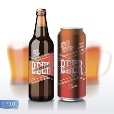 another realistic vector, I like the way the text on the label looks as if it is also shiny and metal texture and really appears to be on the glass.