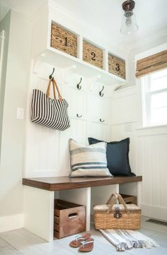 Small mudroom with built in cubbies eclecticallyvintage.com
