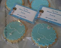 La buona cucina di Katty: Biscotti decorati per la prima comunione . Cookies decorated for first communion