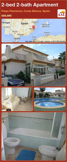 2-bed 2-bath Apartment in Playa Flamenca, Costa Blanca, Spain ►€89,995 #PropertyForSaleInSpain
