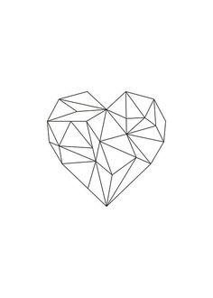 Stylish poster, heart with geometric shapes. Print online – Małgorzata Dziedzic Stylish poster, heart with geometric shapes. Print online Stylish poster, heart with geometric shapes. Heart Poster, Poster Poster, Geometric Poster, Art Graphique, Buy Posters, Black Heart, String Art, Art Drawings, Drawing Art