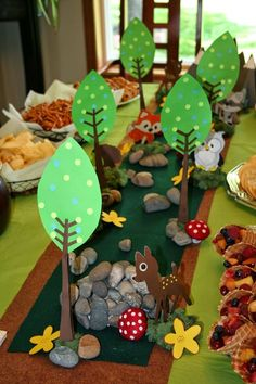 A Journal for Clay: Clay's Woodland Themed Birthday Party! - Mursini Orfanou - A Journal for Clay: Clay's Woodland Themed Birthday Party! A Journal for Clay: Clay's Woodland Themed Birthday Party! Forest Party, Woodland Party, Woodland Theme, Forest Baby Showers, Boy Birthday Parties, Animal Party, Journal, Clay Clay, Tattoo Man