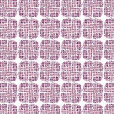 Purple Geometric Pattern by April V. Walters, 2014