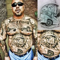 tatted up with some lowrider art