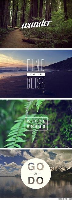Outdoors; your life is waiting, are you ready?   http://wetravelandblog.com