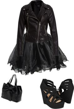 """""""cute goth outfit"""" by eileen-schuring ❤ liked on Polyvore"""