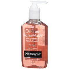 Neutrogena Oil-Free Acne Wash Facial Cleanser, Pink Grapefruit, 6 Ounce,$5.97