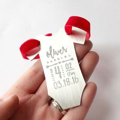 baby bodysuit ornament - baby onesie stats ornament - baby's first christmas ornament- custom personalized christmas ornament - baby gift - baby statistics