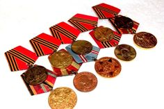#Russian #WW2 #Commemorative #Military #Medals with #Ribbons kit 10 pcs #ebay #molch_ann #store #love
