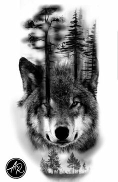 Wolf # # # # - Land of Tattoos Wolf Tattoos, Native Tattoos, Skull Tattoos, Animal Tattoos, Body Art Tattoos, Girl Tattoos, Tattoos For Guys, Wolf Tattoo Design, Forearm Tattoo Design