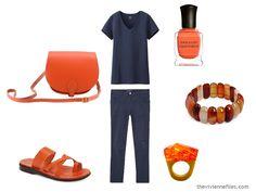 Wearing Unflattering Colors: Orange - The Vivienne Files Capsule Wardrobe, Core Wardrobe, The Vivienne, Knit Pants, Match Making, Carven, Orange Color, Colour, Accent Colors