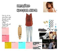 """""""Imagine Keegan Allen"""" by rainbow22xd ❤ liked on Polyvore featuring H&M, J Brand, Wildfox, TOMS, Kate Spade, Jennifer Meyer Jewelry and Sector 9"""