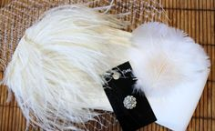 Fabric Flower and Feather Hair Fascinator Tutorial