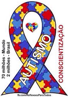 """02 de abril - Dia Mundial de Conscientização do #Autismo. Acesse e leia: """"Autismo"""" >> clique na imagem. Divulgue e compartilhe a campanha."""