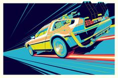 Delorean Back To The Future Time Travel Machine Poster Laminated Dmc Delorean, Delorean Time Machine, The Future Movie, Back To The Future, Future Car, Vaporwave, Drake Art, Dmc 12, Time Travel Machine