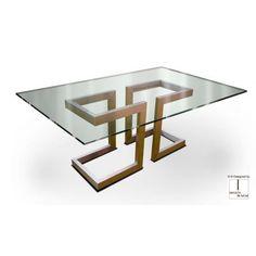 Compra mesa de comedor Alto Diseño LISA de Gonzalo de Salas online. Diseño Gonzalo de Salas.  Mesa con base Hierro lacado en diferentes colores y medidas disponibles. También realizable en acero inoxidable.