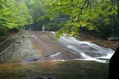 Sliding Rock- 60 foot natural water slide, Pisgah National Forest, North Carolina