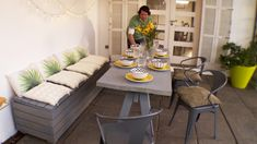 Hágalo Usted Mismo - Especiales Home Organization, Organizing Ideas, Outdoor Furniture Sets, Outdoor Decor, Patio, Table Decorations, Amelia, Home Decor, Used Tires