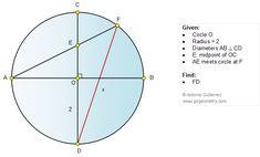 Geometry Problem 1090 Circle, Diameters, Chord, Perpendicular, Metric Relations
