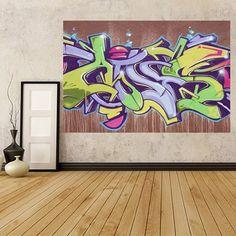 GWM24 - art urbain graffiti lettrage photo de papier peint . Peler et coller papier peint auto-adhésif. Mural Autocollant Mural Art TM Fever Royaume-Uni