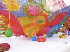 crochet net art
