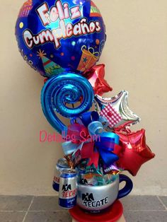 Balloon Flowers, Balloon Bouquet, Happy Birthday Bouquet, Birthday Gifts, Best Dad Gifts, Gifts For Dad, Photos Booth, Balloon Gift, Candy Bouquet