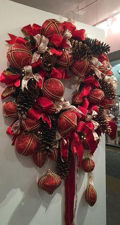 Christmas Display from our Dallas Showroom at the Dallas Market Center - Summer 2015! #burtonandburton #Christmas