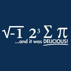 I ate all of the pie... Wow I'm such a nerd