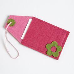 Pink Flower Felt Tag 6-Pack-Pink Flower Felt Tag 6-Pack | World Market