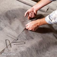 Use Landscape Pins and Staples to Prevent Gaps in Your Garden's Landscape Fabric