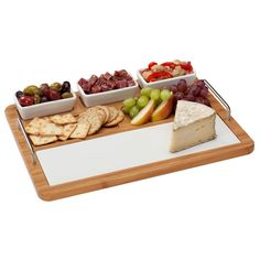 Shop for Porcelain and Bamboo Complete Hostess Server. Get free delivery On EVERYTHING* Overstock - Your Online Kitchen & Dining Outlet Store! Food Serving Trays, Serving Board, White Porcelain, Kitchen Dining, Dinnerware, Bamboo, Wine, Cutting Boards, Target