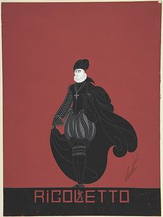 Erté (Romain de Tirtoff) Design for Black Breaches, Cap and Cape for Ganna Walska in