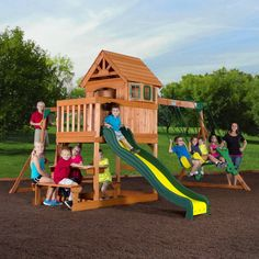 Big Backyard Springfield Ii Wood Swing Set Outdoor Living In 2018