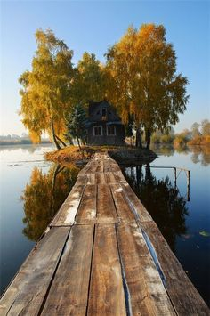 Island House, Finland. Solitude, stock the place with food, coffee, and books... and my crocheting, I'd never leave. :-)