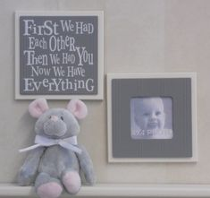 Purple and Gray Baby Girl Nursery Decor Wall by NelsonsGifts