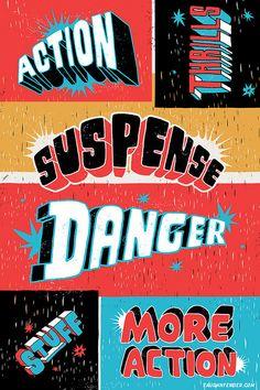 Comic book design type