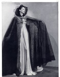 Madeleine Vionnet 1937 photo by Man Ray, Fashion Photography, Evening Gown
