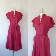 1940's dress / vintage 40's evening dress / Falling by Coralroot