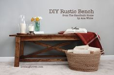 DIY:: Gorgeous Budget  Rustic Wood Bench -