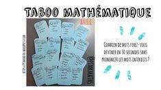 Taboo mathématique #maths #jeu - YouTube Math Work, Make It Yourself, Instagram, Blog, Words