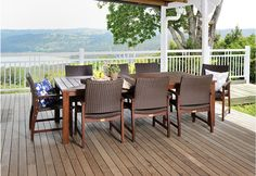 Nullabor 9 Piece Wicker Outdoor Setting gives you plenty of room to stretch out and enjoy your outdoor living area in style.