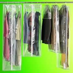 PEVA Garment Bags | SALE $5.99 - $12.99    I have several of these bags for storing off season clothes in my attic storage closet.  They're great for keeping them dust free, and the bugs out.