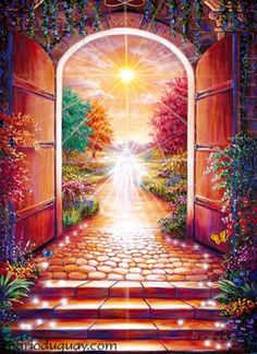This beautiful artwork is by the  visionary artist Duguay - scroll to the bottom of the page to see more