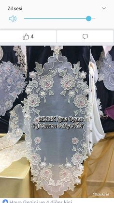 White Embroidery, Bargello, Table Toppers, Couture, Table Runners, Salons, Stitch, Sewing, Lace
