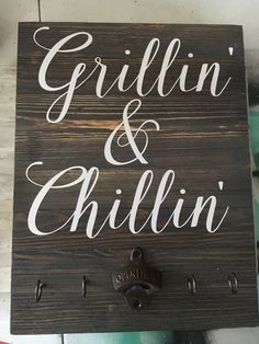 grillin and chillin pallet sign grill sign wood grillin and