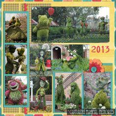 #Disney #EpcotinSpring 2013 #Scrapbook Page Layout- Favorites Return