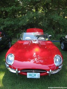 This red 1961 Jaguar e-type was at a Myopia Hunt Club polo match  last Sunday.  Pretty cat!