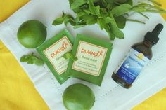 Mojito Iced Tea Ingredients by Out To Lunch Creations - stevia sweetened, mint tea, limes
