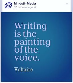 Painting of the voice... #Write #Create
