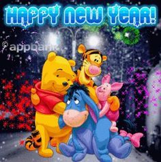 pooh and friends new years - Google Search